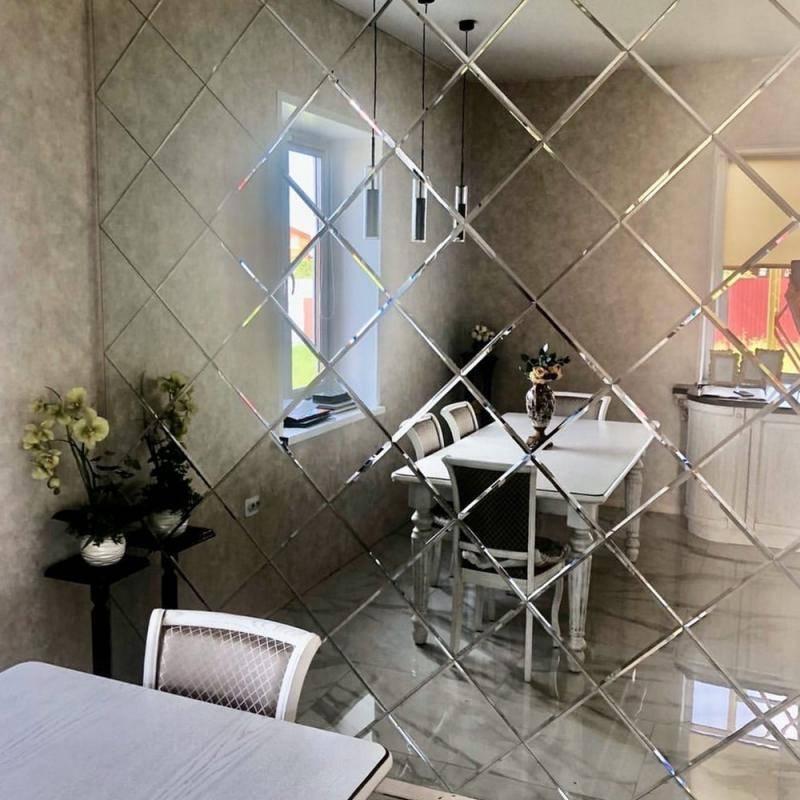 Зеркальная плитка с фацетом в интерьере, фото, дизайн » интер-ер.ру