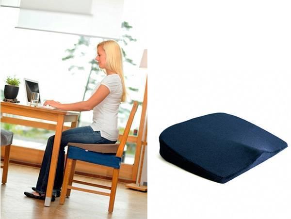 Как подобрать ортопедическую подушку на стул по форме и материалу