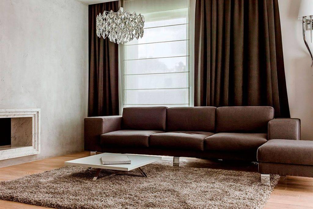 Коричневый диван (59 фото): модели светло- и темно-коричневого цвета, в бежево-коричневых тонах, из кожзама