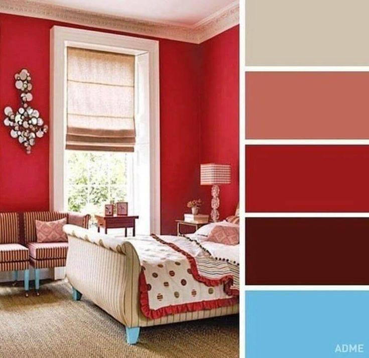 Дизайн спальни в серых тонах: интерьер с яркими акцентами синего, розового и зеленого цвета  - 29 фото