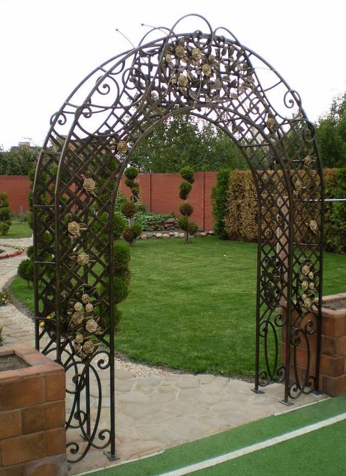 Разновидности арок для цветов – использование в дизайне сада