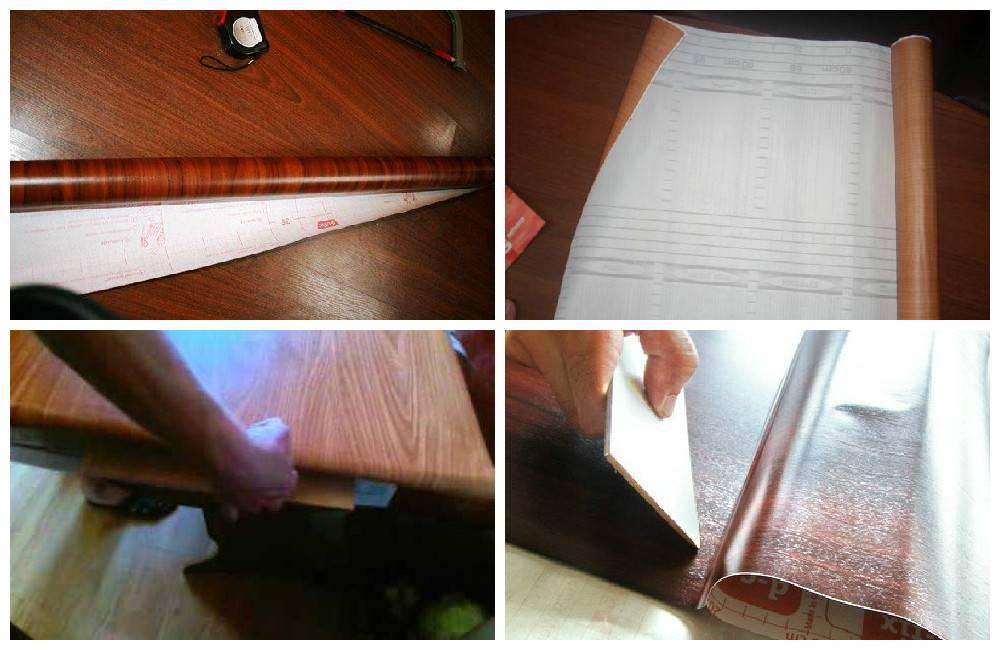 Как клеить самоклеющуюся пленку на дверь