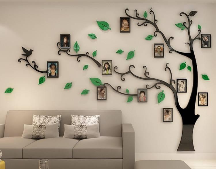 Дерево на стене +75 фото в интерьере - «декор»