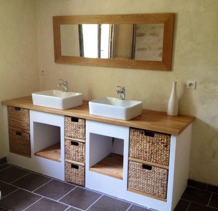 Столешница в ванную комнату: реальные фото примеры