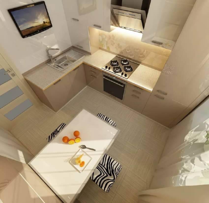 Кухня для мини-квартиры-студии: идеи дизайна интерьера