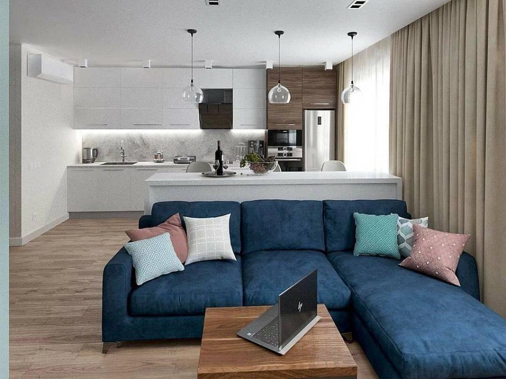 Кухня-гостиная 20 м: способы зонирования, советы по планировке, фото