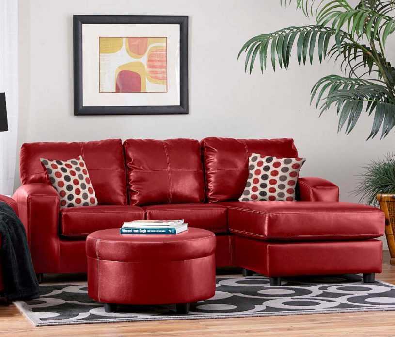 Красный диван в интерьере | домфронт