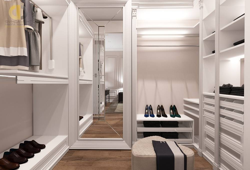 Как обустроить гардеробную комнату? дизайн, фото в интерьере.