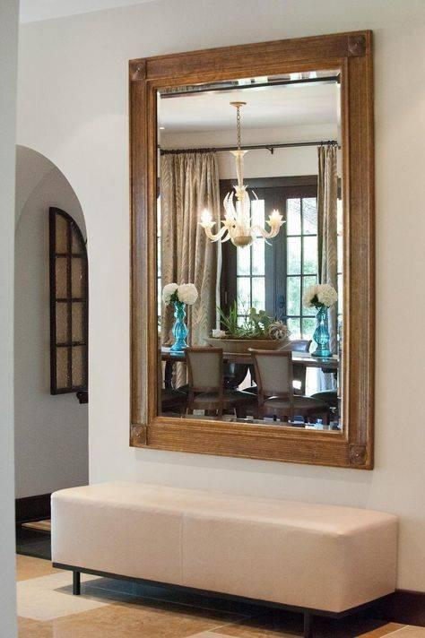 Варианты оформления и размещения настенного зеркала в прихожей