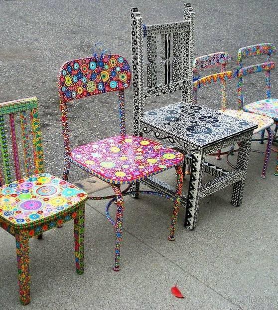 Декор стульев своими руками, примеры дизайна и способов на фото