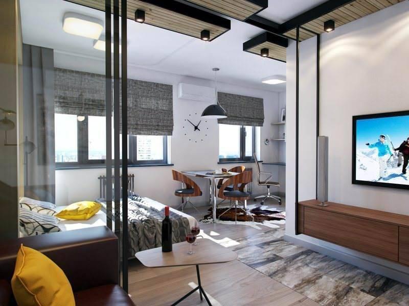 Планировка и дизайн интерьера евродвухкомнатной квартиры площадью 40 кв. м