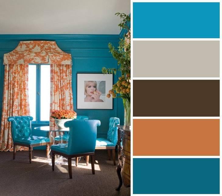 Сочетание бирюзового цвета   lookcolor