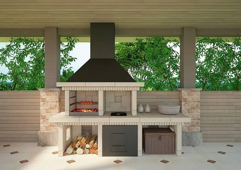 Беседка с барбекю (88 фото): проект для дачи с зоной отдыха, строительство из кирпича, порядовка и схема, закрытая конструкция с остеклением
