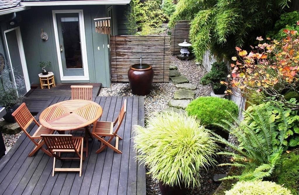Ландшафтный дизайн двора частного дома (138 фото): красивый современный декор ландшафта, дворик с беседкой
