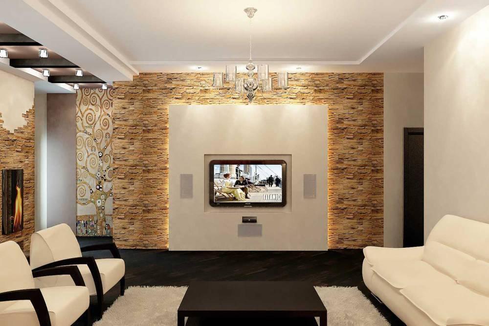 Декоративный камень в интерьере: варианты применения (фото)