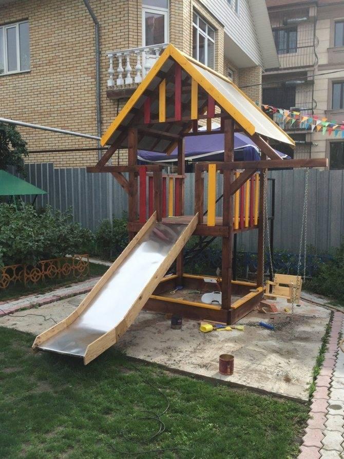 Детская площадка на даче своими руками: игровая, спортивная   (100 оригинальных фото идей & видео)