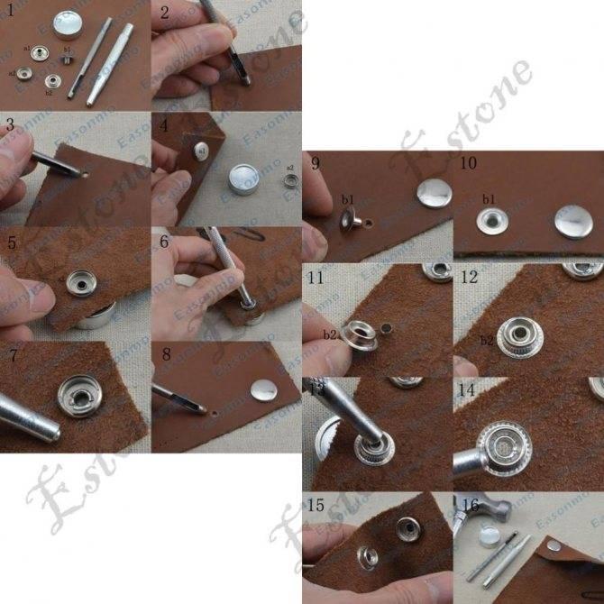 Установить люверс без инструмента: рабочий процесс