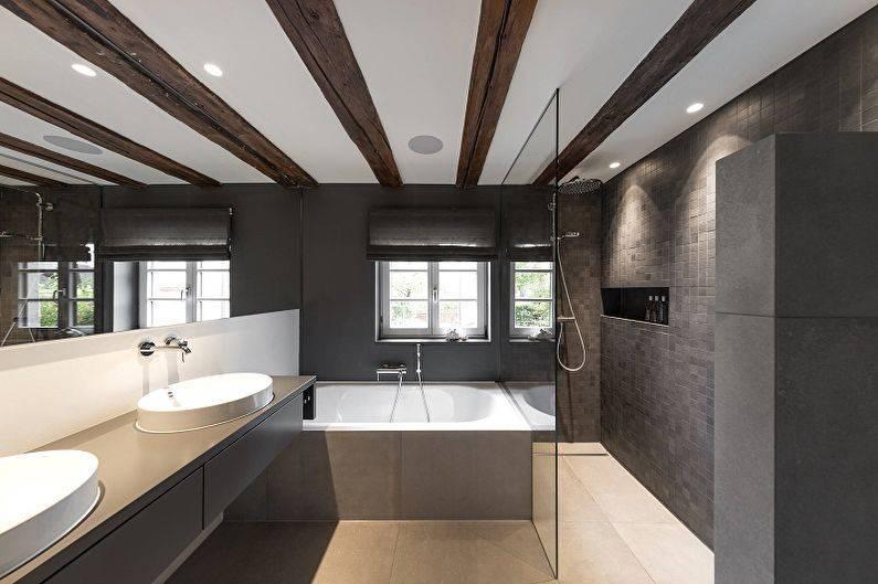 Потолки в ванной комнате - фото вариантов дизайна
