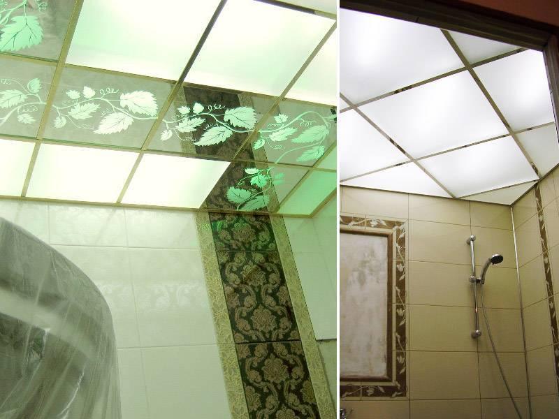 Натяжной потолок в ванную: 125+ (фото) практичных вариантов