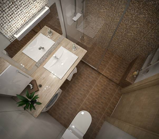 Ванная 2 кв м: дизайн без туалета - 25 фото
