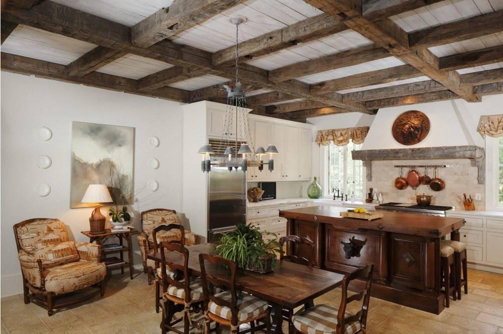 Декоративные балки на потолок (80 фото): как обыграть фальшбалки в интерьере, дизайн с имитацией деревянных перекрытий, полиуретановые модели в доме из дерева