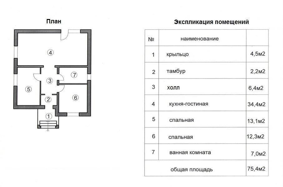 Что такое поэтажный план и экспликация квартиры, здания