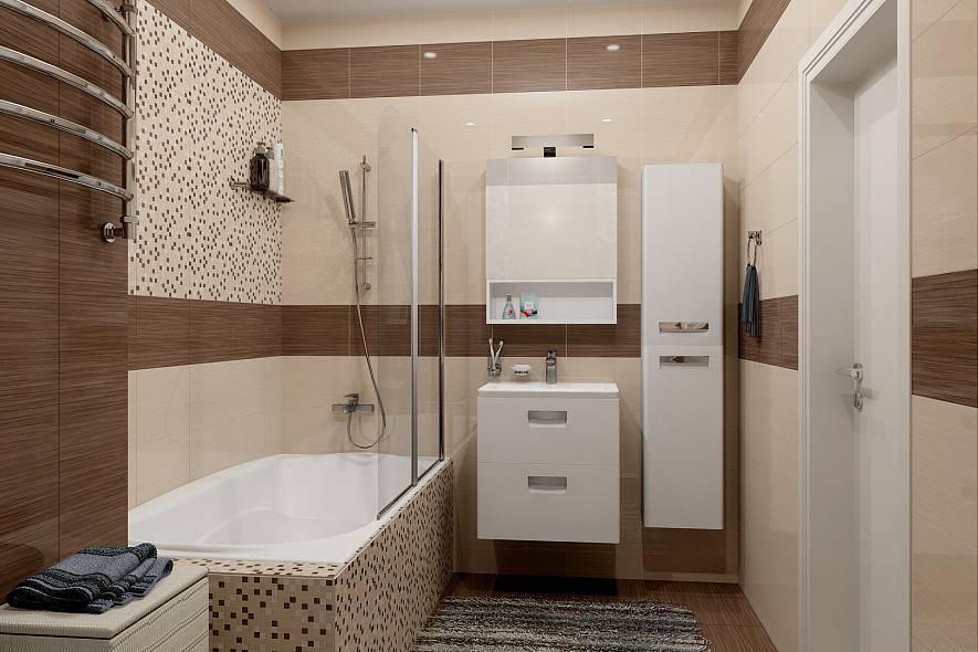 Бежевая плитка для ванной (39 фото): матовый кафель в дизайне интерьера душевой комнаты в коричневых тонах