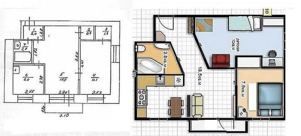Планировка «хрущевки» — описание и типовые варианты для двух- и четырехкомнатных квартир в кирпичном доме, комнаты в пятиэтажках