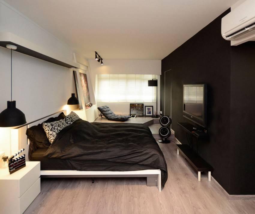 Спальня с темной мебелью: особенности и варианты дизайна