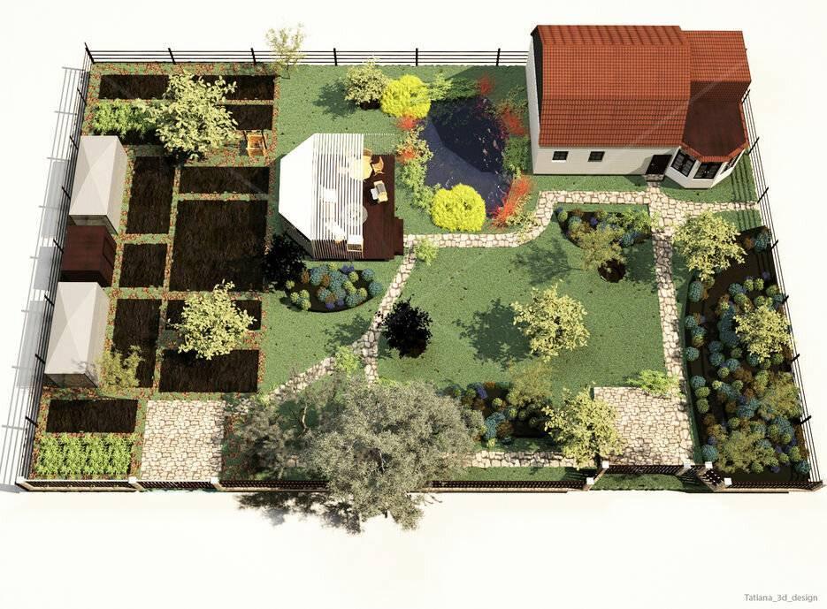 Современный ландшафтный дизайн на 4 сотках дачи