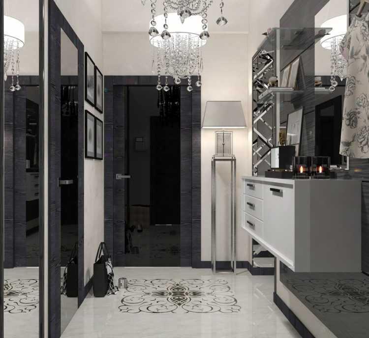 Дизайн черной прихожей - этапы проектирования и оформления прихожей в черном цвете (125 фото и видео)