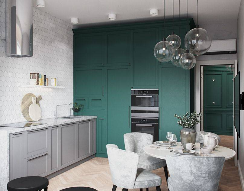 Дизайн кухни в серых тонах: наилучшие сочетания цветов, советы по оформлению интерьера, подбор стиля, фото-идеи