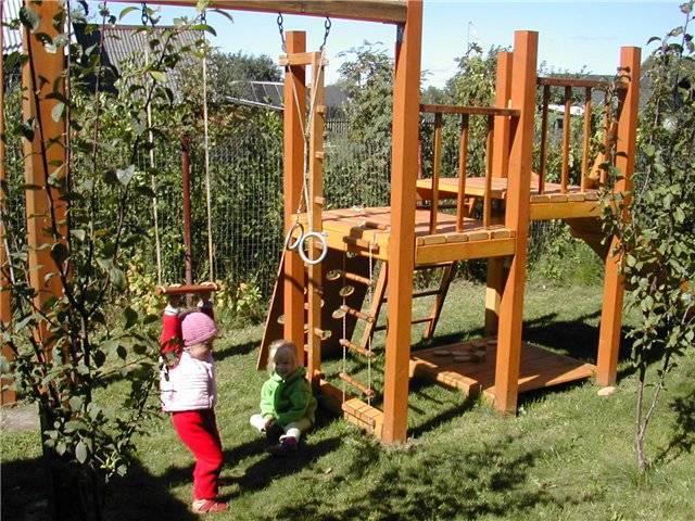 Детская площадка своими руками: 75 лучших идей для дачи