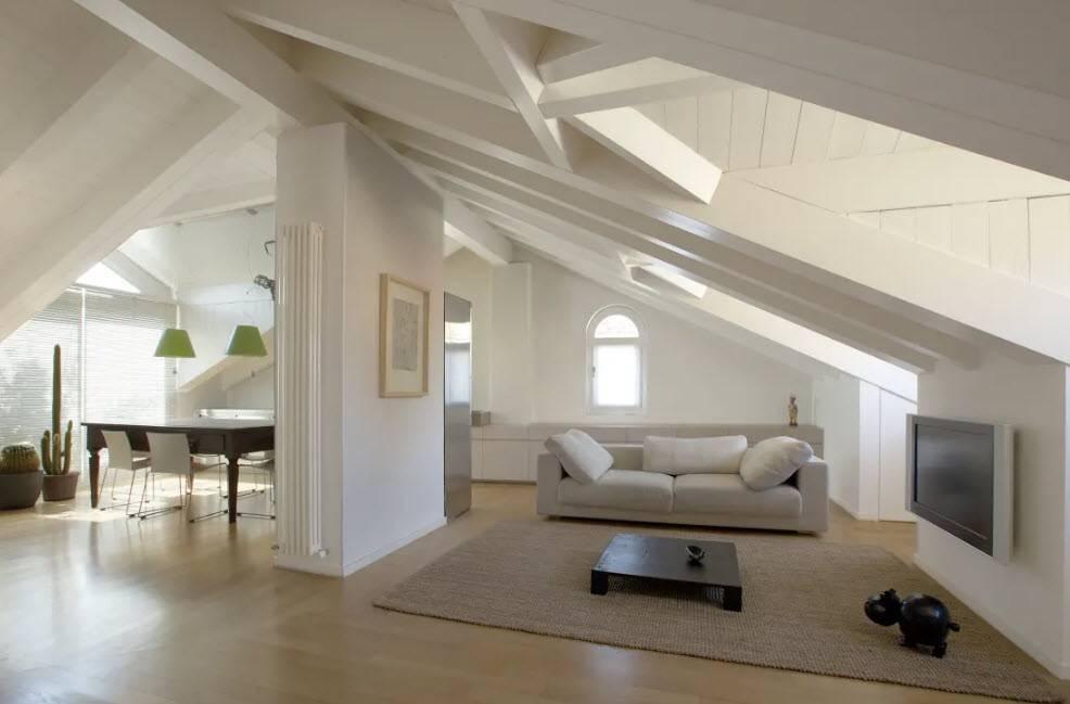 Дизайн интерьера мансарды в частном доме (85 фото): обустройство мансардной комнаты, оформление этажа и крыши
