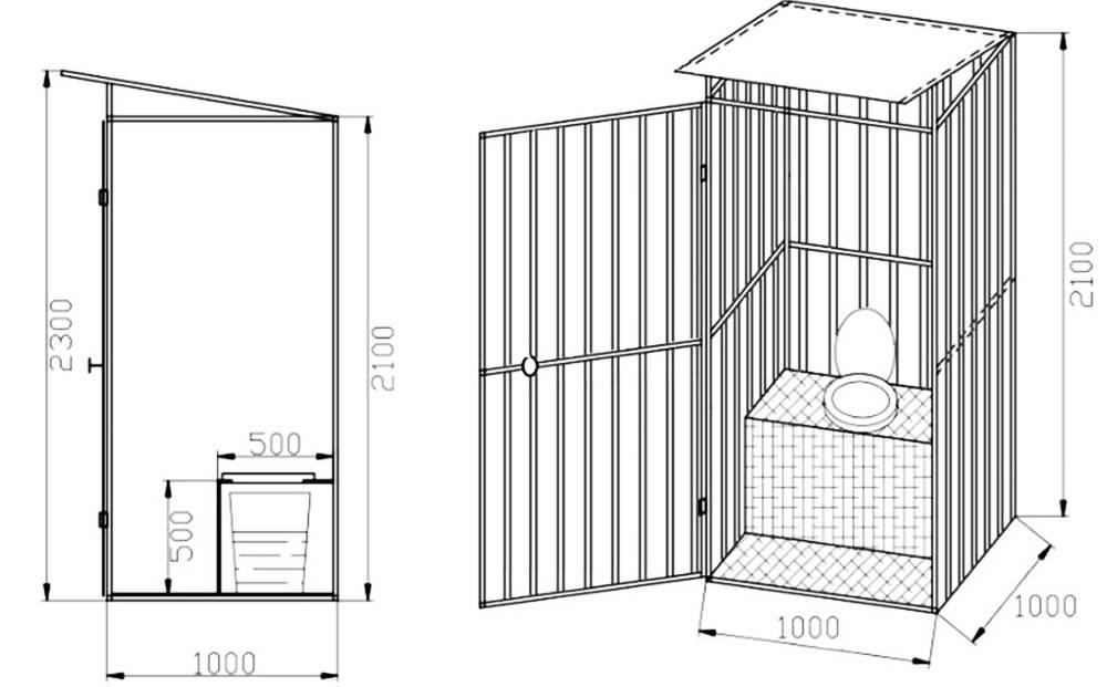 Как правильно сделать туалет на даче своими руками: чертежи, размеры и видео