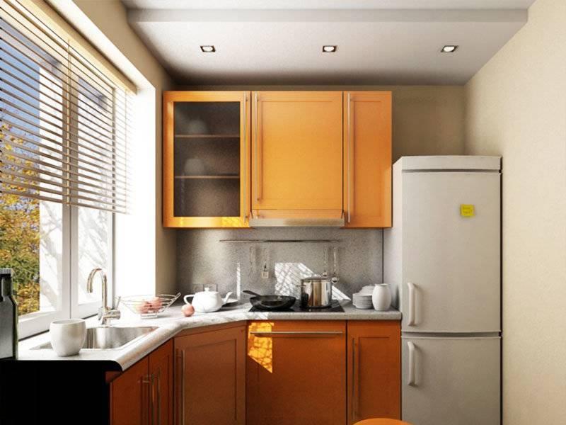 15 удачных планировок кухни 6 кв м с холодильником и плитой