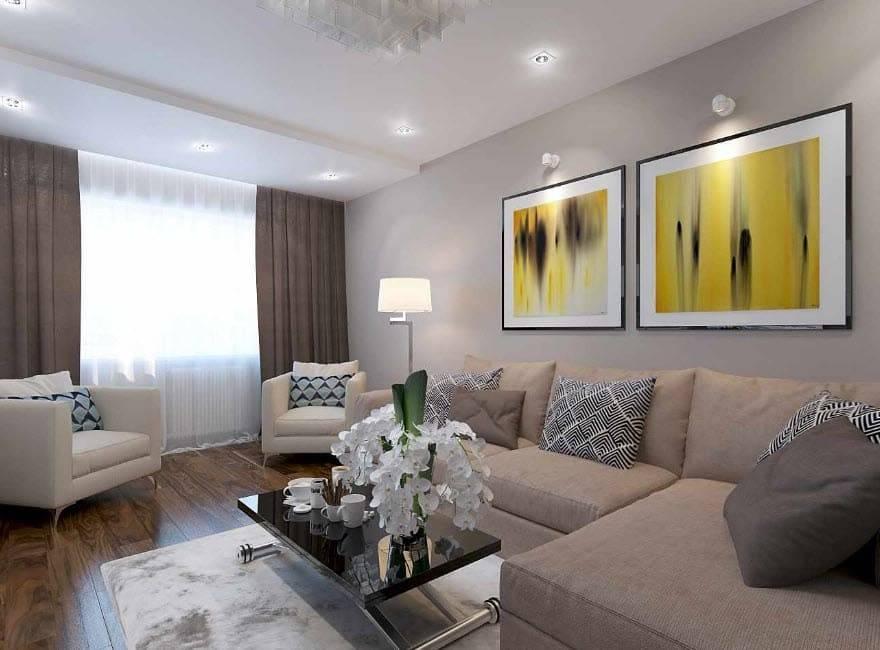 Дизайн кухни-гостиной площадью 17 кв. м в обычной квартире: особенности обустройства, зонирование и стильное оформление