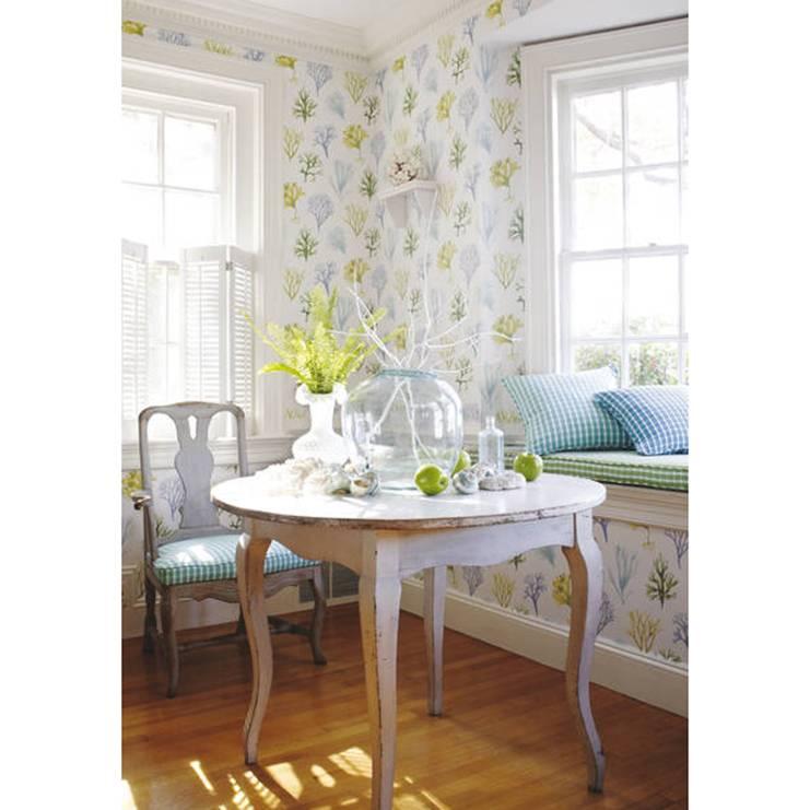 Фото интерьера в стиле прованс. выбор обоев для кухни