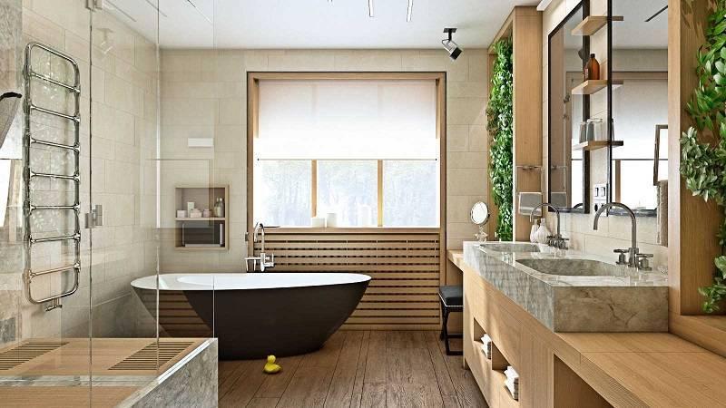Дизайн ванной комнаты с окном: 10 идей| 13 фото