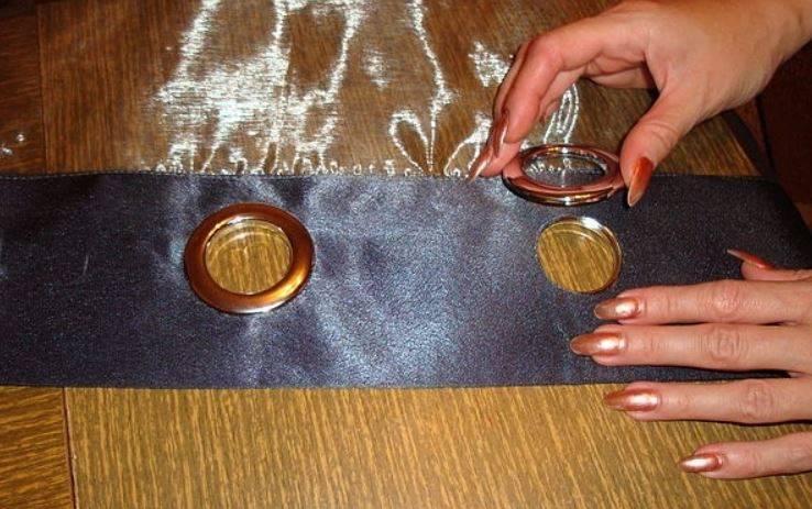 Как установить люверсы без инструмента