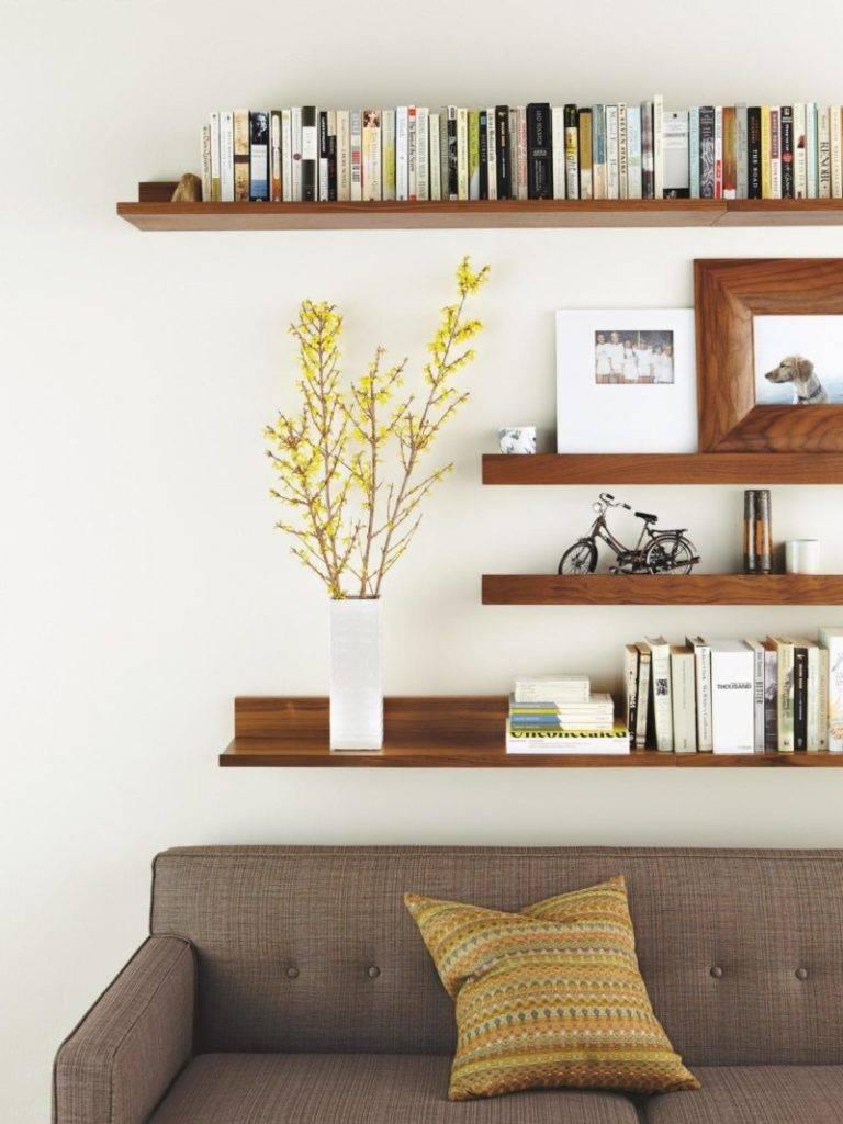 Декоративные и стильные полки на стену в интерьере
