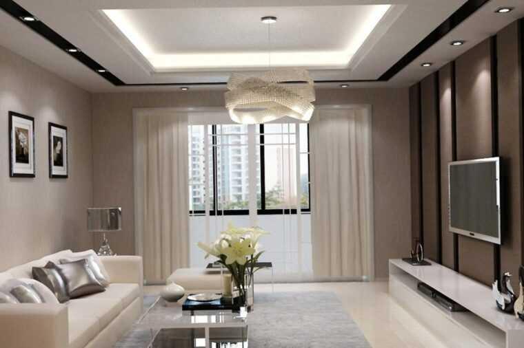 Интерьер гостиной комнаты современном стиле эконом класса: 50 фото - ремонт квартир фото