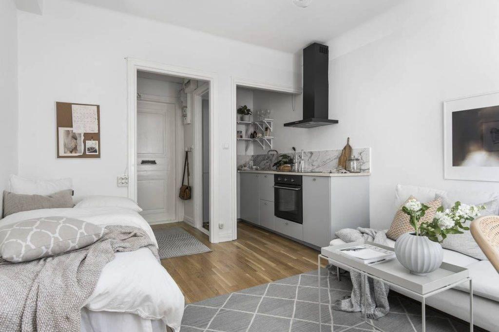 Дизайн квартиры-студии [90+ фото] планировки, зонирование
