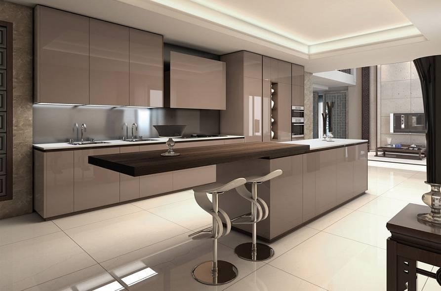 Кухня цвета капучино +75 фото в интерьере