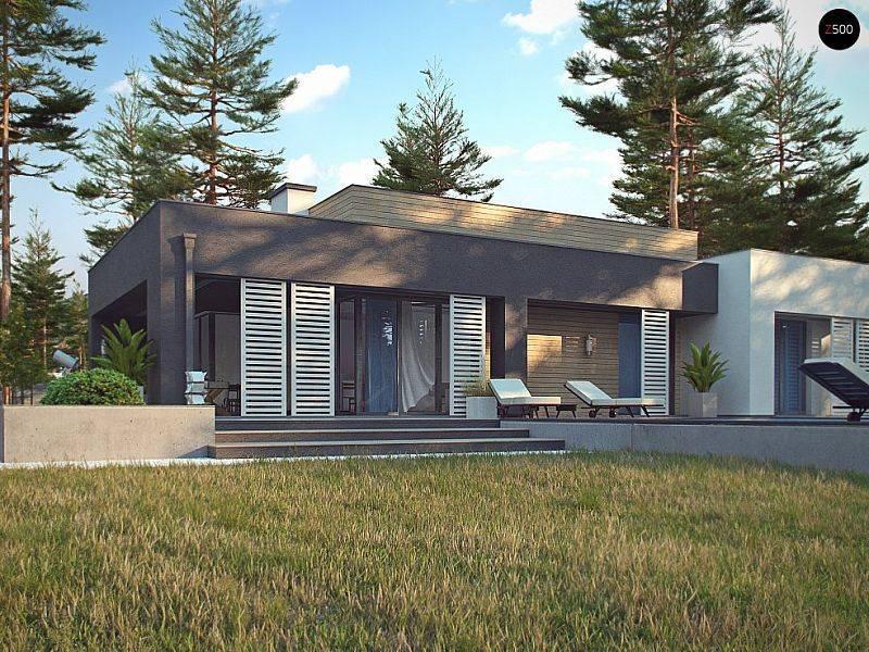 Проекты домов с плоской крышей: фото плана современного загородного одноэтажного и эксплуатируемого дома с плоской кровлей