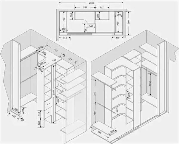 75 идей дизайна и оформления для маленьких гардеробных комнат