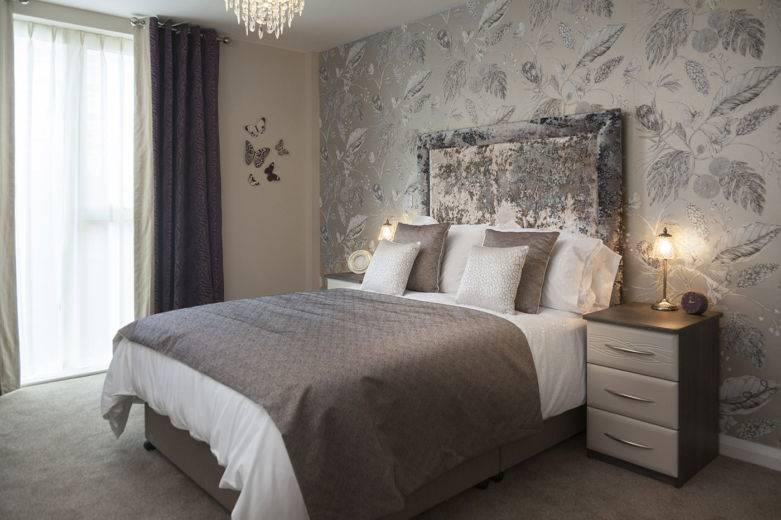 Комбинированные обои спальни: каталог фото идеи сочетаний