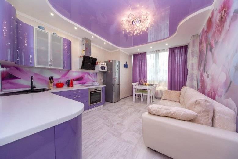 Фиолетовая кухня: сочетания цветов и примеры интерьера