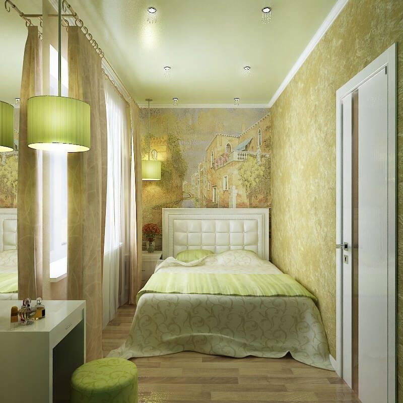 Идеальный дизайн интерьера узкой спальни: 8 простых секретов
