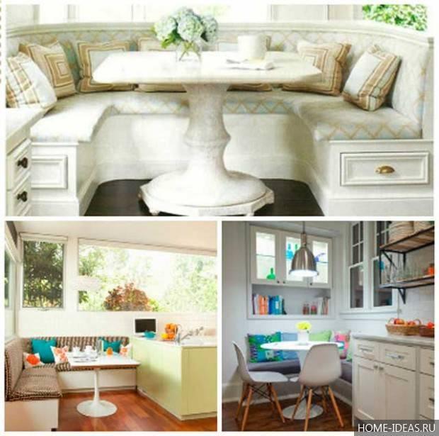Кухонные уголки без стола: какими бывают и как их выбрать?